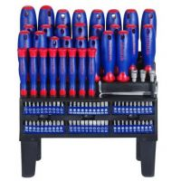 Screwdrivers Set 100pcs with Rack - Workpro