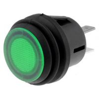 Push Button SPST-NO 20.2mm - with Green Led