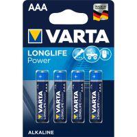 Battery Varta Alkaline Longlife Power LR61 1.5V AAA (4pack) - 1250mAh