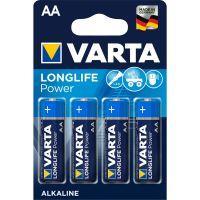 Battery Varta Alkaline Longlife Power LR06 1.5V AA (4pack) - 2850mAh