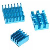 Raspberry Pi 4 B Heatsink - Blue (Set of 3)