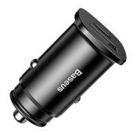 Baseus Car Power Supply 5V 5A QC4.0 & USB-C - Black