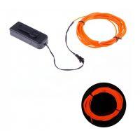 EL Wire 2.3mm Orange with Controller - 2m