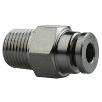 Stainless Steel Push Fit Connector 4mm 1/8'' - PC4-01