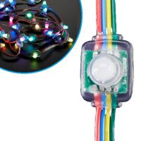 12mm Diffused Flat Digital RGB LED Pixels (Strand of 25) - WS2801