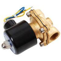 Brass Liquid Solenoid Valve - 12V - 1/2 NPS