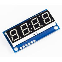 4-Digit Serial LED Display - Blue