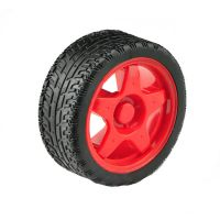 Rubber Wheel 66x26mm - Red