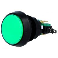 Dome Push Button 44mm - Green
