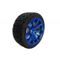 Rubber Wheel 65x25mm - Blue Silver