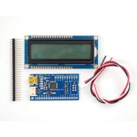 USB + Serial Backpack Kit with 16x2 RGB backlight positive LCD - Black on RGB
