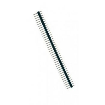 Pin Header 1x40 Male 2.54 mm Black