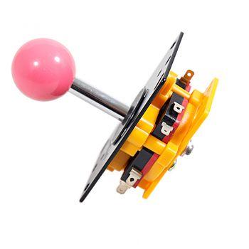 Arcade Joystick - Short Handle (Pink Ball)