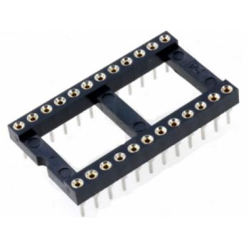 Dip Socket 24 Pin Gold (15.24mm)