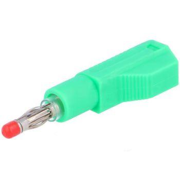 Banana Plug 4mm for cable 56mm - Green