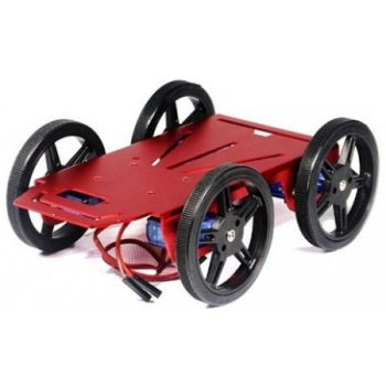 Mini Robot Rover Chassis Kit - 4WD with DC Motors