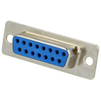 D-SUB Connector Female 15-pin - for Soldering
