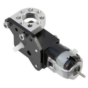 Shown on a Right Angle Gear Motor attached to a hub mount