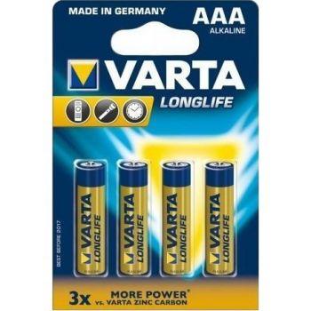 Battery Varta Alkaline Longlife LR61 1.5V AAA (4pack)