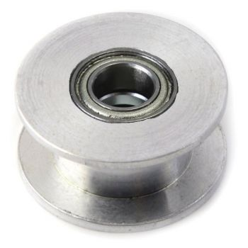 Aluminum GT2 Timing Pulley Idler - 20T Smooth - 5mm Bore