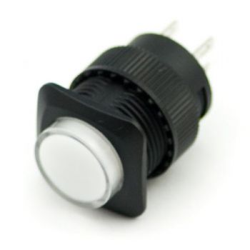Illuminated Push Button - Latching (16mm, White)