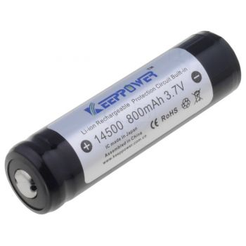 Battery Rechargeable 14500 3.7V - 800mAh (KeepPower ICR14500)