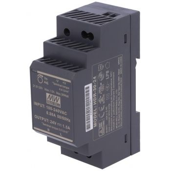 Din Power Supply 24V 1.5A MeanWell - HDR-30-24