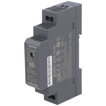 Din Power Supply 24V 0.63A MeanWell - HDR-15-24