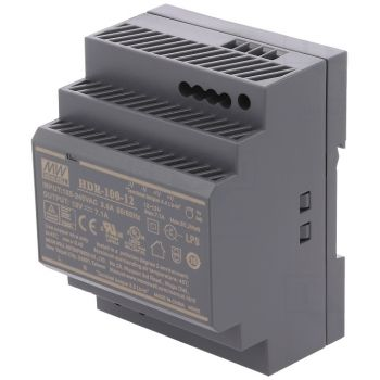Din Power Supply 12V 7.1A MeanWell - HDR-100-12