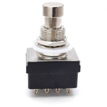 Stomp Switch 4PDT Latching - with Solder Lugs