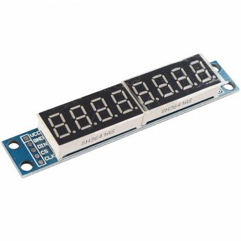 Led Display 8-Digit with MAX7219 - Red (Soldered)