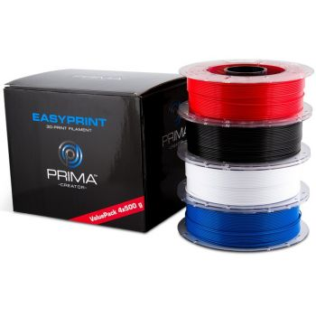 EasyPrint PLA Value Pack Standar - 1.75mm - 4x500g - White, Black, Red, Blue