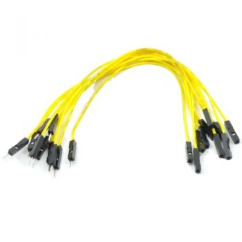 Jumper Wires 15cm Female to Male - Pack of 10 Yellow