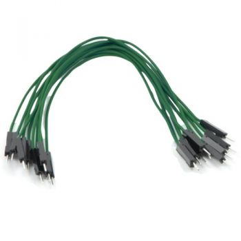 Jumper Wires 15cm Male to Male - Pack of 10 Green