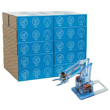 MeArm Robot Classic Maker - Blue 20 Student Classroom Pack