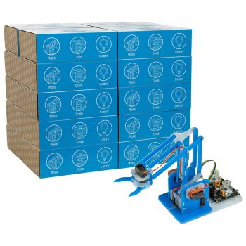 MeArm Robot for Arduino - Blue 20 Student Classroom Pack