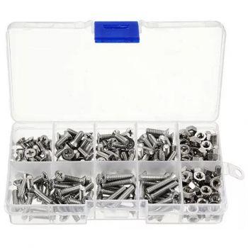 Bolts & Nuts Assortment Kit M3, M4, M5 - 275pcs