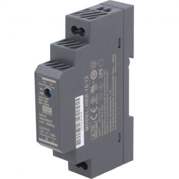 Din Power Supply 12V 1.25A MeanWell - HDR-15-12