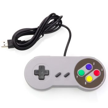 Gamepad USB Controller Retro SNES - Grey