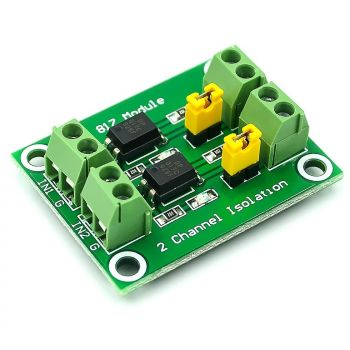 PC817 2-Channel Optocoupler Isolation Board