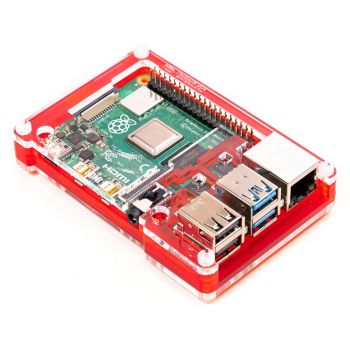 Pibow Case for Raspberry Pi 4 - Red