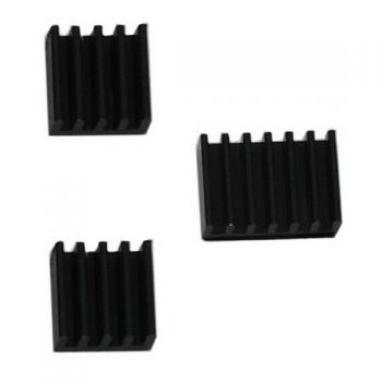 Raspberry Pi 4 B Heatsink - Black (Set of 3)