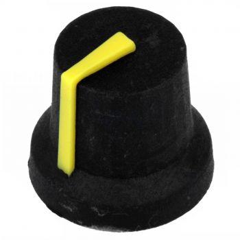 Potentiometer Knob 17x14mm - Yellow (D-Shaft)
