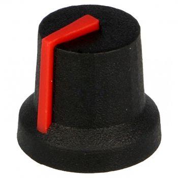 Potentiometer Knob 17x14mm - Red (D-Shaft)