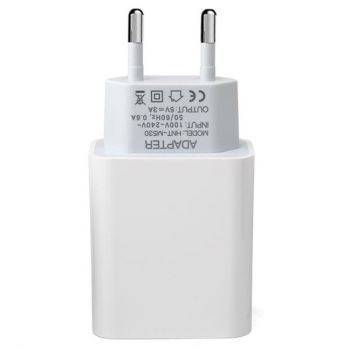 Power Supply 5V 3A - USB Plug - White