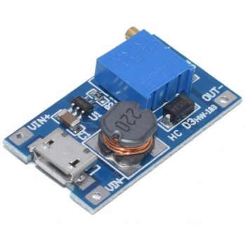 DC-DC Converter Step-Up 5-28V 2A with Micro USB - MT3608