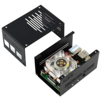 Metal Case for Raspberry Pi 4 with Low-Profile ICE Tower Cooling Fan
