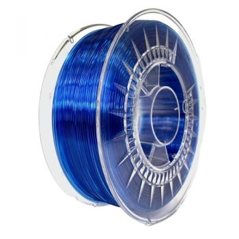 3D Printer Filament Devil - PETG 1.75mm Super Blue Transparent 1kg