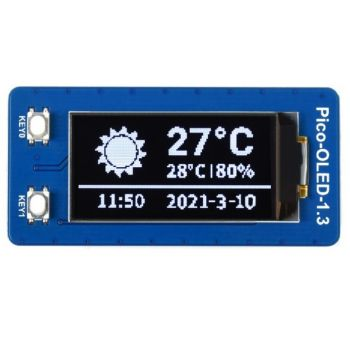 "Pico Display OLED 1.3"" 128x64 (Black-White)"