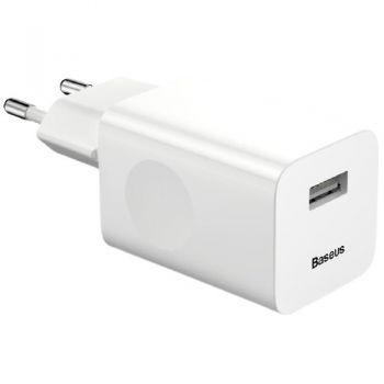 Baseus Power Supply 5V 3A 23W - USB Plug QC3.0 - White